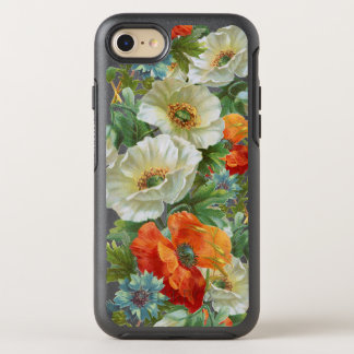 White Orange Poppy Floral iPhone 7/8 Otterbox Case