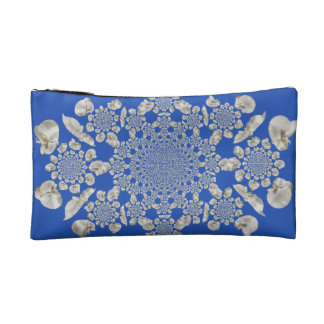 White Orchid Abstract Cosmetic Bag