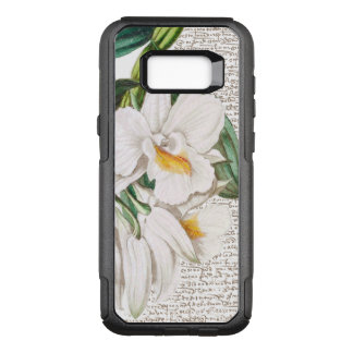 White Orchid Calligraphy OtterBox Commuter Samsung Galaxy S8+ Case