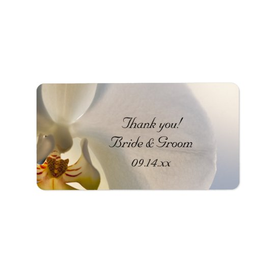 White Orchid Elegance Wedding Thank You Favour
