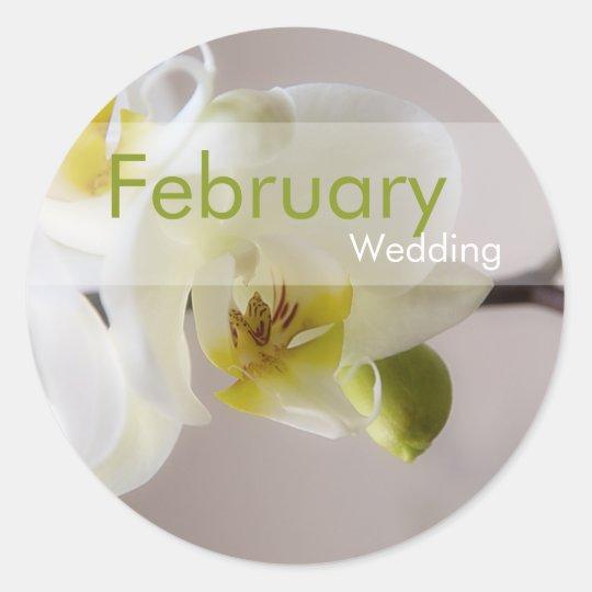 White Orchid • February Wedding Sticker