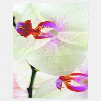 White Orchid Love Fleece Blanket