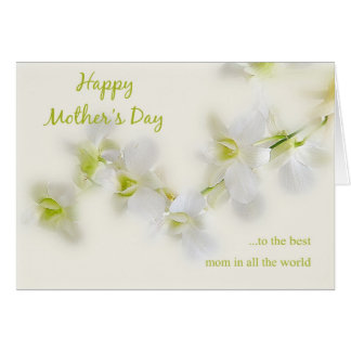 White Orchid Mother's Day Card