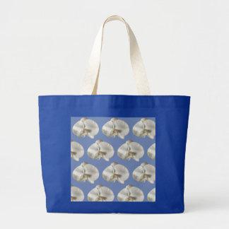 White Orchid Pattern Jumbo Tote bag