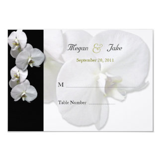 White Orchid Table Seating Cards