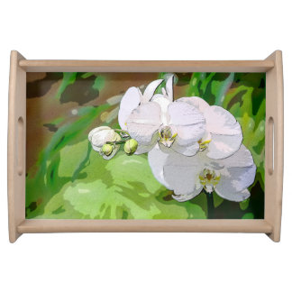 White Orchid Tray