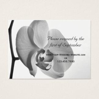 White Orchid Wedding RSVP Response Card