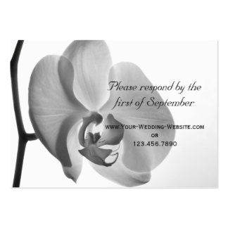 White Orchid Wedding RSVP Response Card Business Card Templates