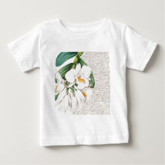 White Orchids Calligraphy Baby T-Shirt
