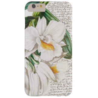 White Orchids Calligraphy Barely There iPhone 6 Plus Case