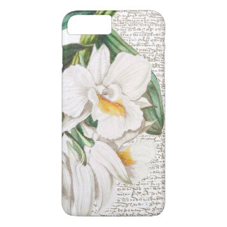 White Orchids Calligraphy Case-Mate iPhone Case