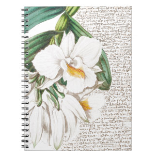White Orchids Calligraphy Notebooks
