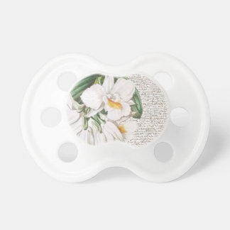 White Orchids Calligraphy Pacifier