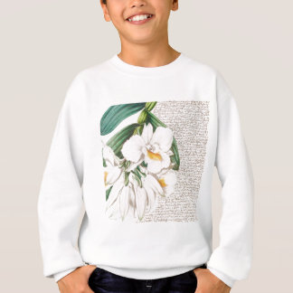 White Orchids Calligraphy Sweatshirt