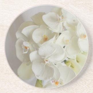 White-Orchids Coaster