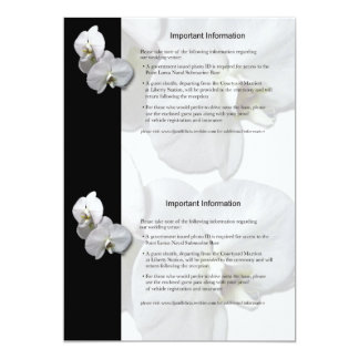 White Orchids Information Sheet 3 Card