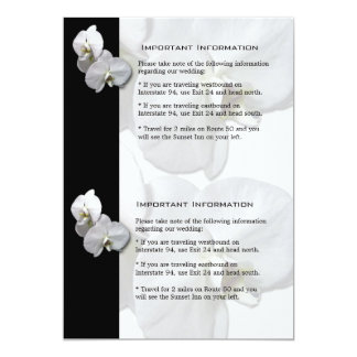 White Orchids Information Sheet 4 Card