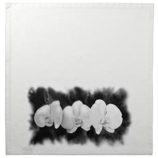 White Orchids Napkins