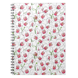 White orchids. notebooks