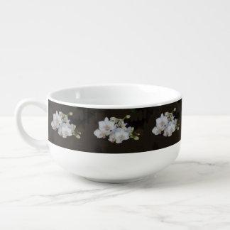 White Orchids Soup Mug