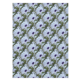 White Osteospermum Flower Daisy With Purple Hue Tablecloth