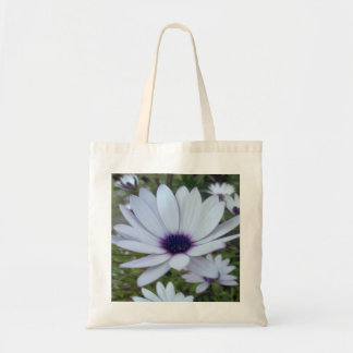White Osteospermum Flower Daisy With Purple Hue Tote Bag