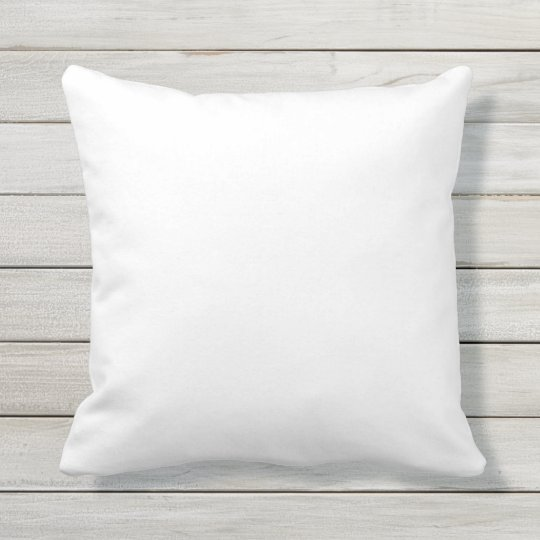 White Outdoor Throw Pillow