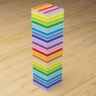 White Outlined Broader Spectrum Rainbow Stripes Wine Box
