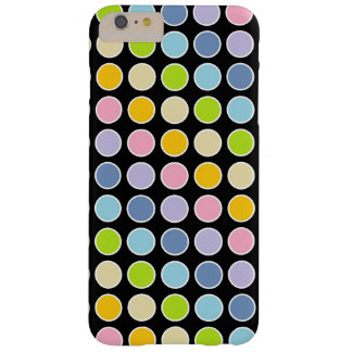 White Outlined Pastel Rainbow Polka Dots Barely There iPhone 6 Plus Case