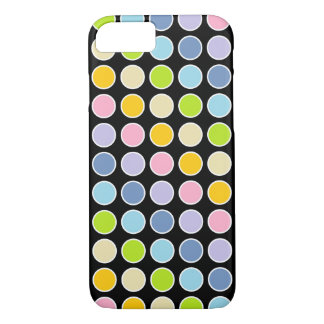 White Outlined Pastel Rainbow Polka Dots Case-Mate iPhone Case