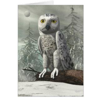 White owl - 3D render Card