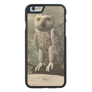 White owl - 3D render Carved® Maple iPhone 6 Slim Case