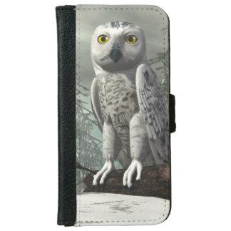 White owl - 3D render iPhone 6 Wallet Case