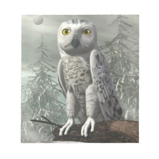 White owl - 3D render Notepad