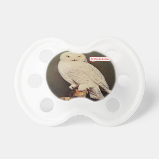 white owl drawing baby pacifier