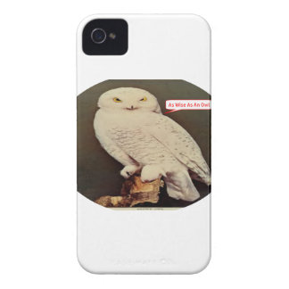 white owl drawing Case-Mate iPhone 4 cases