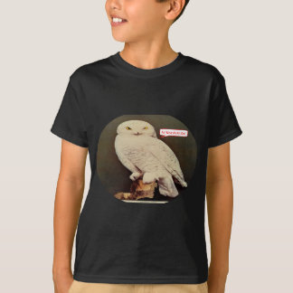 white owl drawing T-Shirt