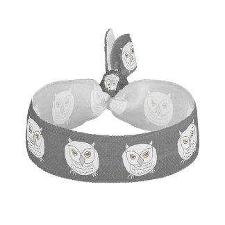 white owl hair tie