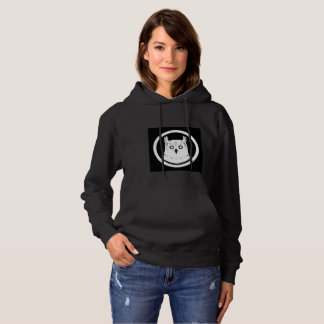 White Owl hooded sweatshirt women black