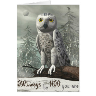 White owl quote - 3D render Card
