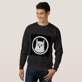 White Owl sweatshirt men black