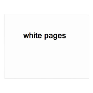 white pages postcard