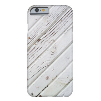 White Painted Wood Boards. Barely There iPhone 6 Case