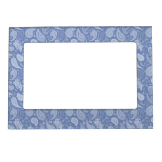 White Paisley Magnetic Photo Frame-You pick color! Frame Magnets