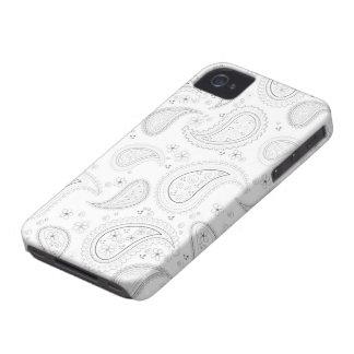 White paisley pattern stylish iphone 4 casemate Case-Mate iPhone 4 case