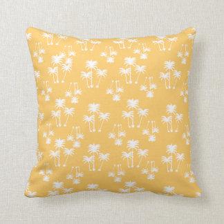 White Palms on Sand Throw Pillow