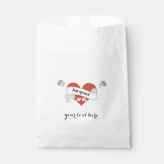 White Paper Wedding Favour Bag - Customizable