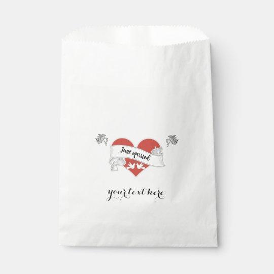 White Paper Wedding Favour Bag - Customizable