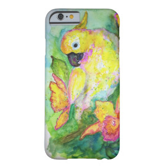 White Parrot Watercolor Barely There iPhone 6 Case