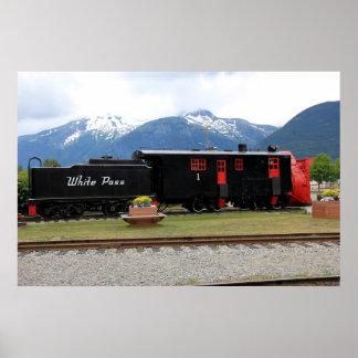 White Pass Train Alaska Poster